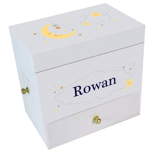 Personalized Celestial Moon Deluxe Ballerina Jewelry Box