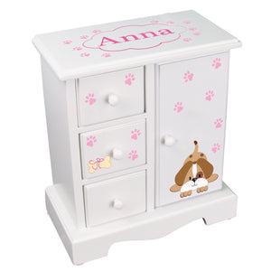 Jewelry Armoire - Pink Puppy
