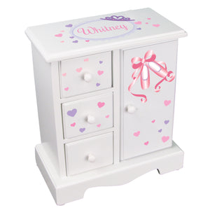 personalized ballet princess jewelry armoire box
