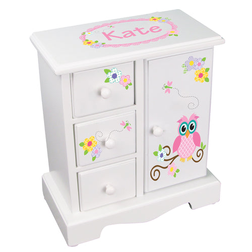 Jewelry Armoire - Calico Owl