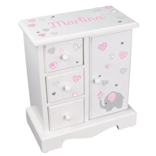 Jewelry Armoire - Pink Elephant