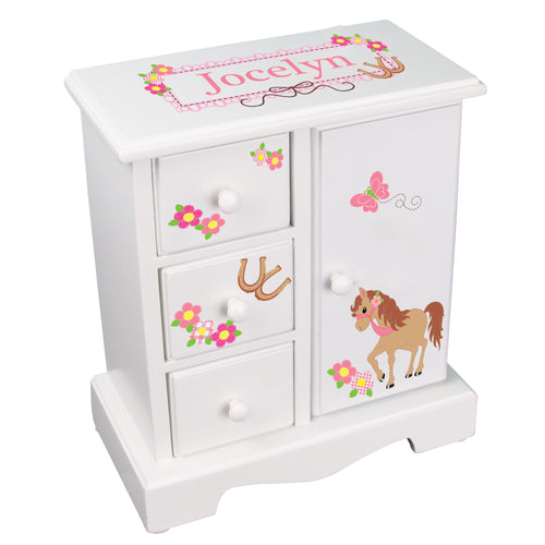 little pony personalized jewelry armoire