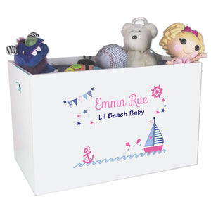Girls Sailboat Toy Box