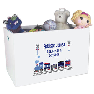 Open Top Toy Box - Train