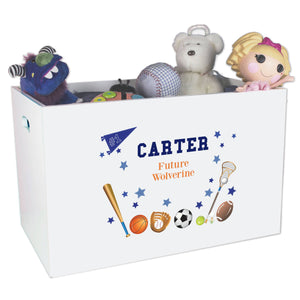 Open Top Toy Box - Sports