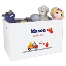 Firetruck engine toy box with name