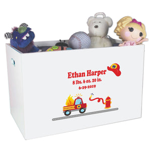 Open Top Toy Box - Fire Truck