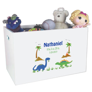 Open Top Toy Box - Dinosaurs