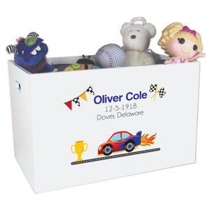 Open Top Toy Box - Race Cars