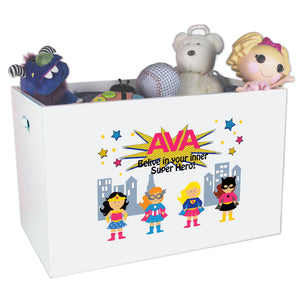 Open Top Toy Box - Super Girls