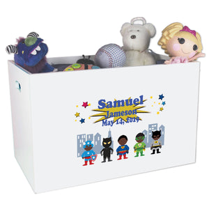 Open Top Toy Box - Superhero African American