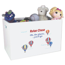 Open Top Toy Box - Hot Air Balloon Primary