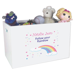 Open Top Toy Box - Rainbow Pastel