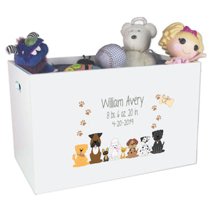 Open Top Toy Box - Brown Dogs