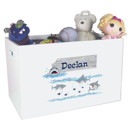 Personalized Shark Toy Box ,storage Bin