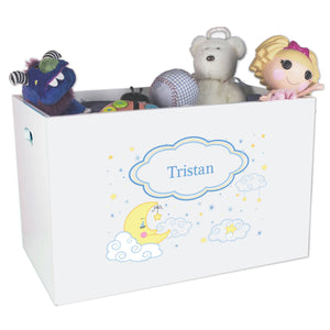 Personalized Moon and Stars Toy Box Bin