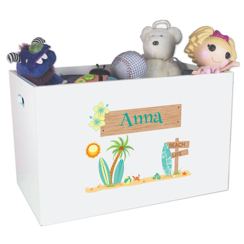 Personalized Surfboard Toy Box Bin