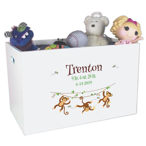 Open Top Toy Box - Monkey Boy