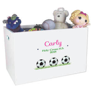 Open Top Toy Box - Soccer Balls