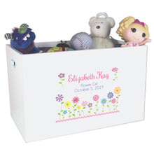 Open Top Toy Box - Stemmed Flowers