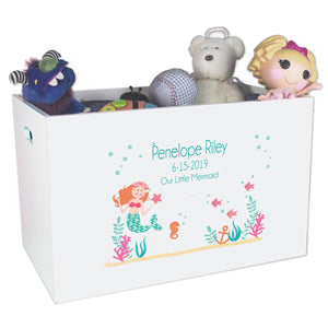 Open Top Toy Box - Mermaid Princess