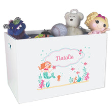Personalized little mermaid White Toy Box