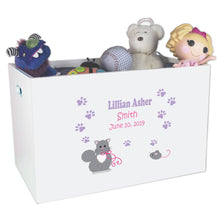 Open Top Toy Box - Kitty Cat