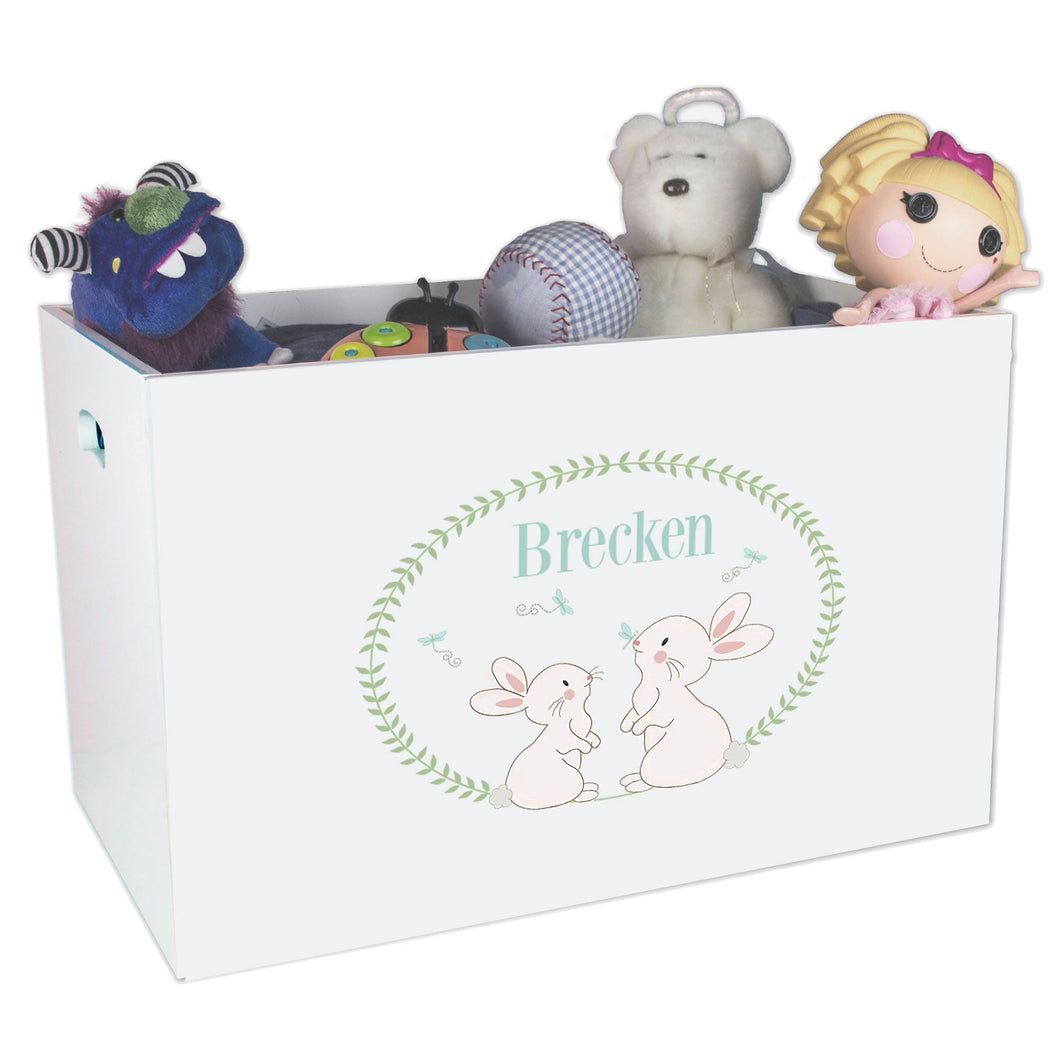 Personalized Bunny toy Box bin