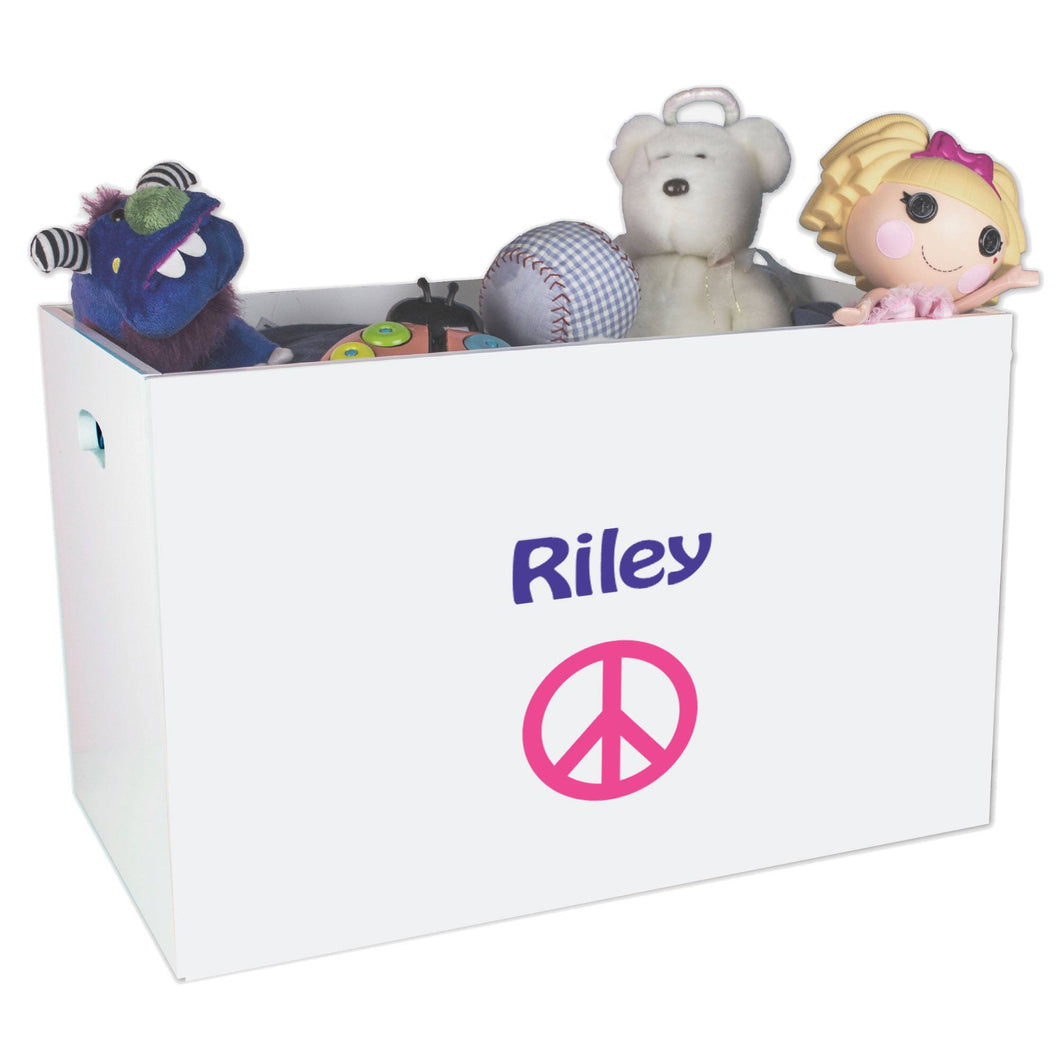 Open White Toy Box Bench with Single Peace design