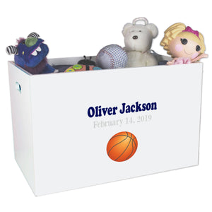 Open Top Toy Box - Single Basketball