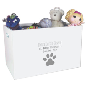 Open Top Toy Box - Single Paw Print