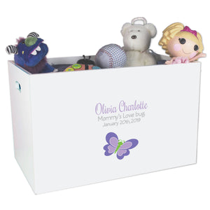 Open Top Toy Box - Single Butterfly