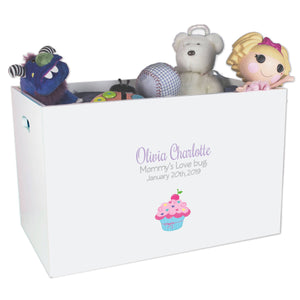 Open Top Toy Box - Single Cupcake