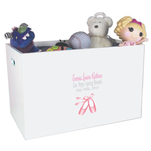 Open Top Toy Box - Single Ballet Slippers