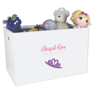 Open Top Toy Box - Single Tiara