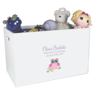 Open Top Toy Box - Single Owl