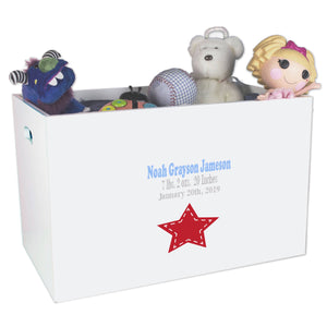 Open Top Toy Box - Single Star