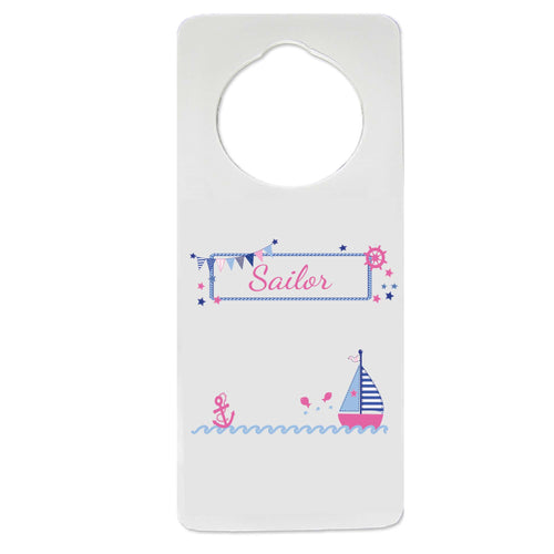 Girl's Sailboat Door Hanger