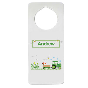 Green Tractor Door Hanger