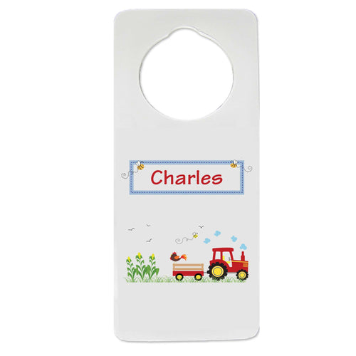 Red Tractor Door Hanger
