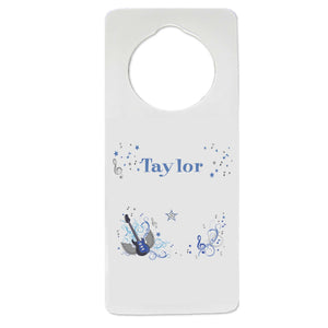 Blue Rock Star Door Hanger