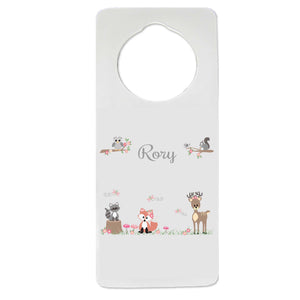 Gray Woodland Door Hanger