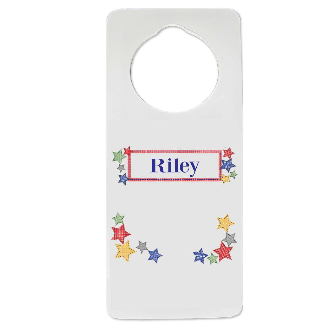 Stitched Stars Door Hanger