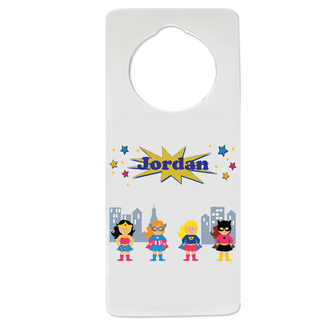 Girls Superhero Door Hanger