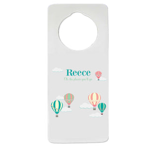 Pastel Hot Air Balloon Door Hanger