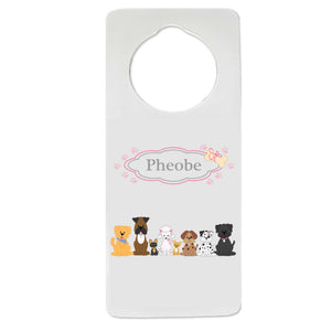 All Dog Pink Door Hanger