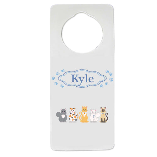 All Cats Blue Door Hanger