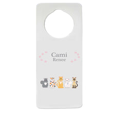 All Cats Pink Door Hanger