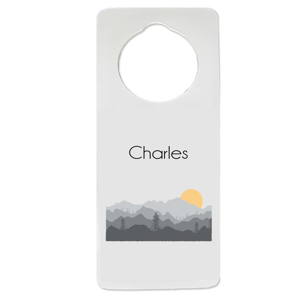 Misty Mountain Door Hanger