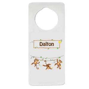 Monkey Boy Door Hanger